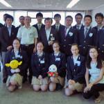【あいでみ】復旦大学附属高校生15名、教育長表敬訪問